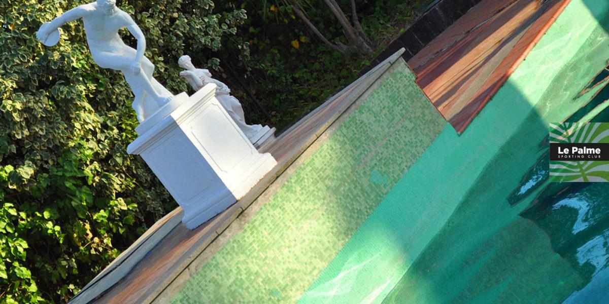 Le Palme Sporting Club Roma - statua e piscina